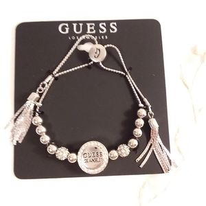 Silver Tone Adjustable Bracelet Guess Los Angeles